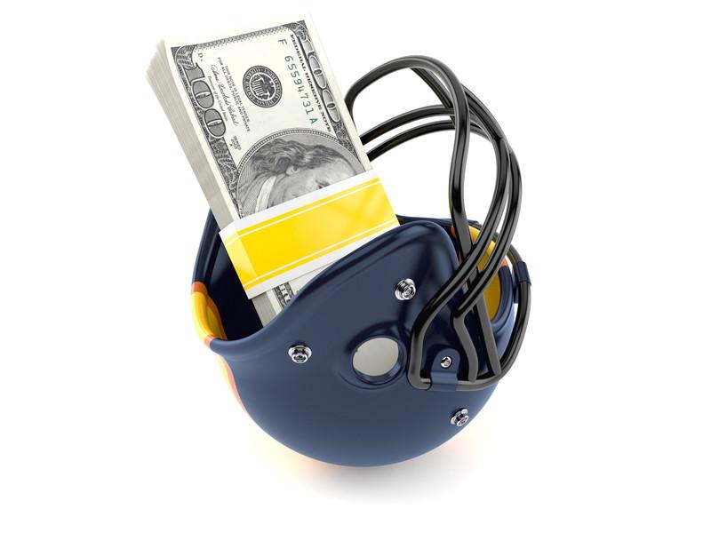 ヘルメットにお金